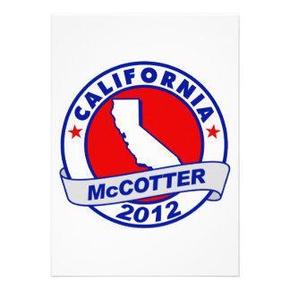 California Thad McCotter Personalized Invites