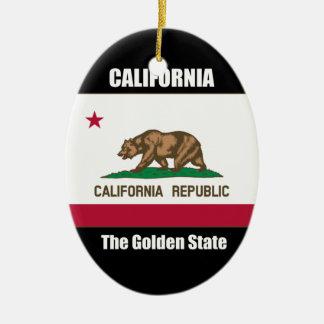 California, The Golden State Ceramic Ornament