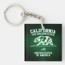 California The Golden State Keychain