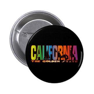 California the golden state pinback button