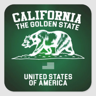 California The Golden State Square Sticker