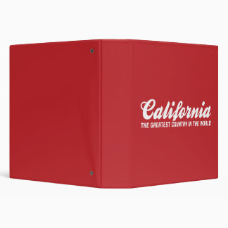 california the greatest country in the world binder
