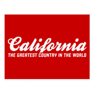 california the greatest country in the world postcard