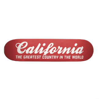 california the greatest country in the world skateboard