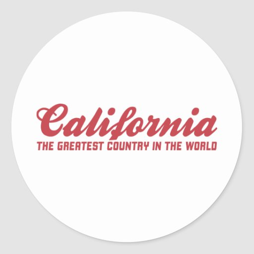 california the greatest country in the world stickers