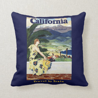 California This Summer Throw Pillow