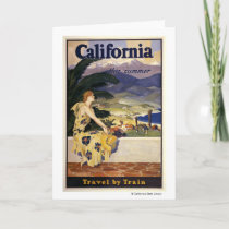 California this summer. Travel by Train  Card