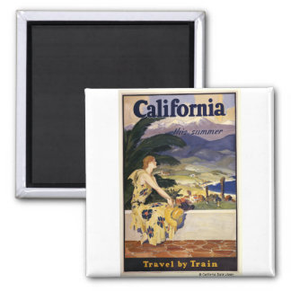 California this summer. Travel by Train  Magnet