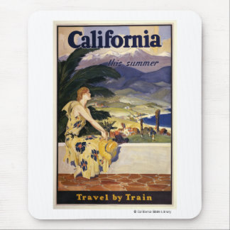 California this summer Travel by Train Mouse Pad