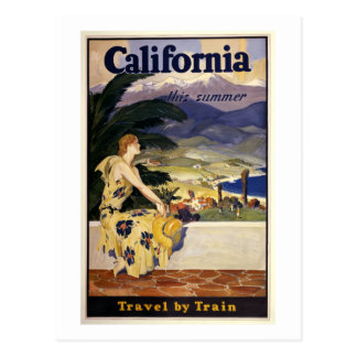 California this summer. Travel by Train  Postcard