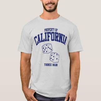 California Three Man Blue T-Shirt