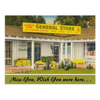 California, tienda general postales