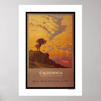 California. Tierra de las vacaciones de América Póster