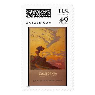 California. Tierra de las vacaciones de América Sellos Postales