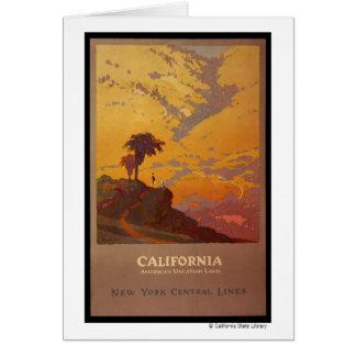 California. Tierra de las vacaciones de América Tarjetón