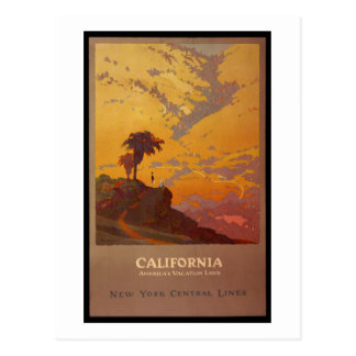 California. Tierra de las vacaciones de América Tarjeta Postal
