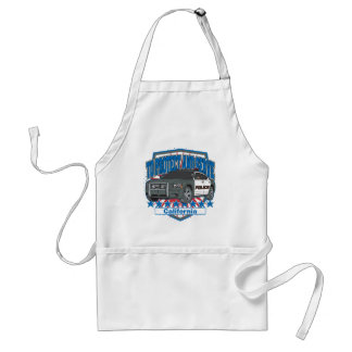 California To Protect and Serve Police Car Adult Apron