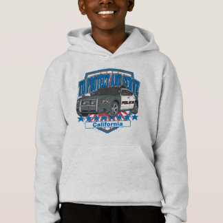 California To Protect and Serve Police Car Hoodie