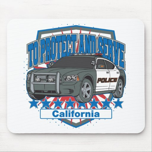 California To Protect and Serve Police Car Mouse Pad