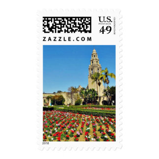 California Tower In Balboa Park Postage Stamp