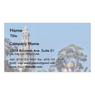 California Tower In Balboa Park San Diego Business Card