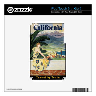 California - Travel by Train Decals For iPod Touch 4G