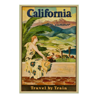 California Travel Vintage Advertisement Poster