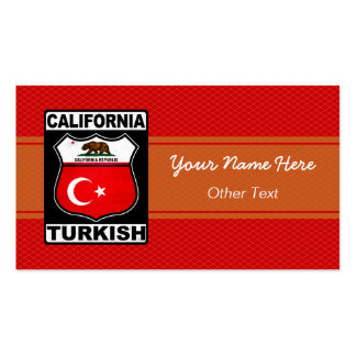 California Turkish American Custom Business Cards