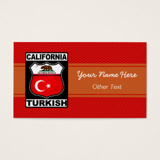 California Turkish American Custom Business Cards