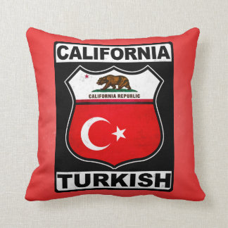 California Turkish American Throw Pillows