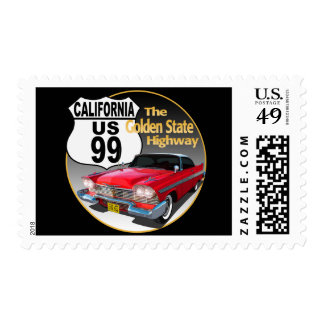 California U S Route 99 - The Golden State Postage