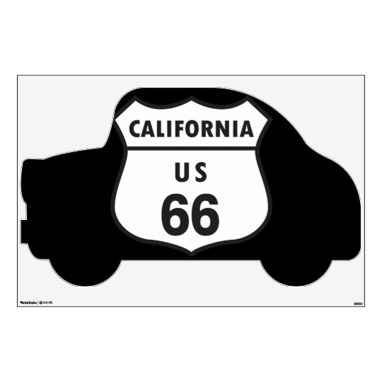 California US 66 Sign Wall Sticker