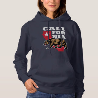 California USA Brown Bear Emblem Hoodie