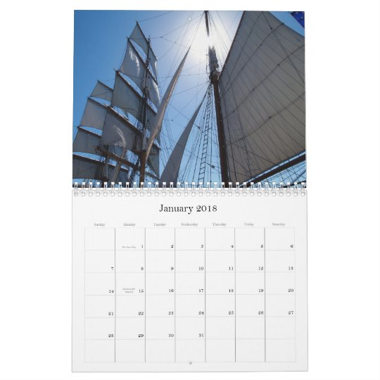 California USA Calendar