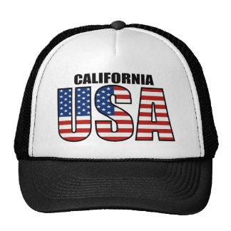 California USA Flag Trucker Hat
