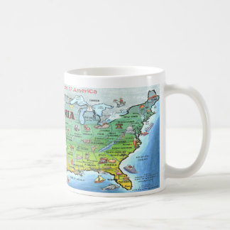 California USA Map Coffee Mugs