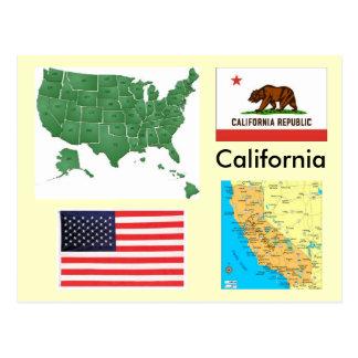 California, USA Postcard