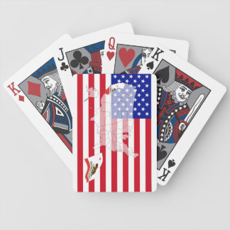 California-USA State flag map playing cards