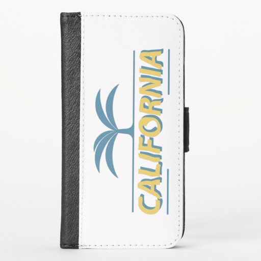 California usa state text  iPhone x wallet case