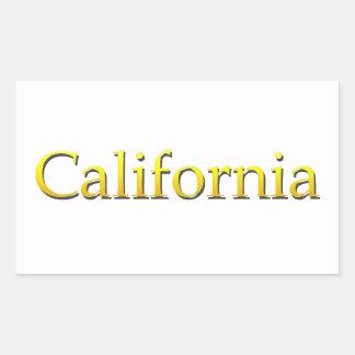 California USA Rectangular Sticker