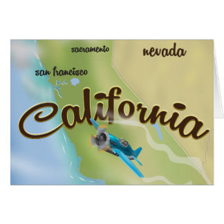 California USA vintage map and travel poster Card