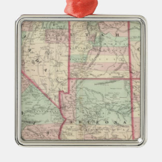 California, Utah, Nevada, Colorado Metal Ornament