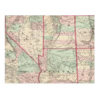 California, Utah, Nevada, Colorado Postcard