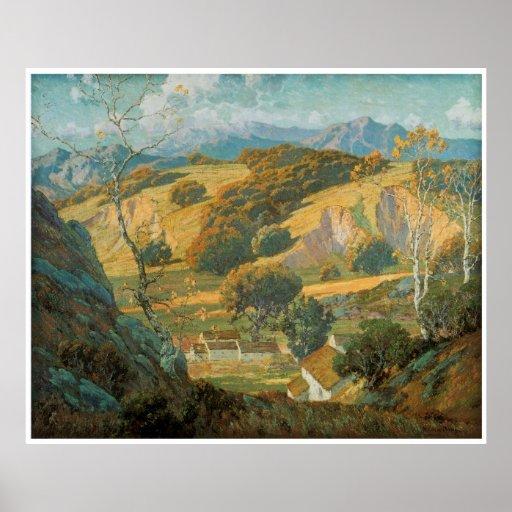 California Valley Farm by Maurice Braun circa 1920 Poster