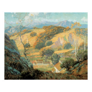 California Valley Farm, by Maurice Braun Poster
