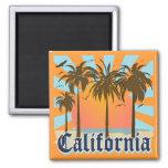 California vara puesta del sol imán cuadrado