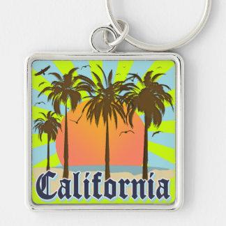 California vara puesta del sol llaveros personalizados