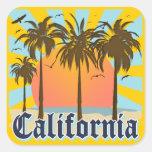 California vara puesta del sol colcomanias cuadradases