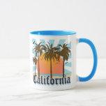 California vara puesta del sol taza