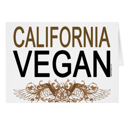 California Vegan Card